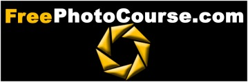FreePhotoCourse.com logo; visit www.FreePhotoCourse.com for easy to learn digital photography lessons, tips, tutorials and much more!